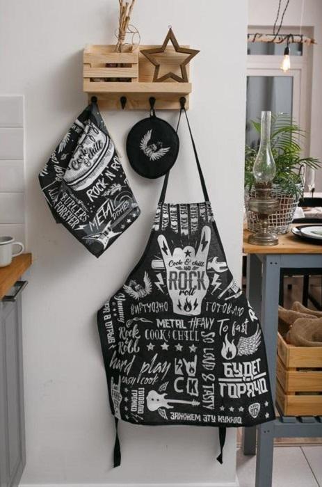 Кухонный набор РОК : фартук, прихватка, полотенце