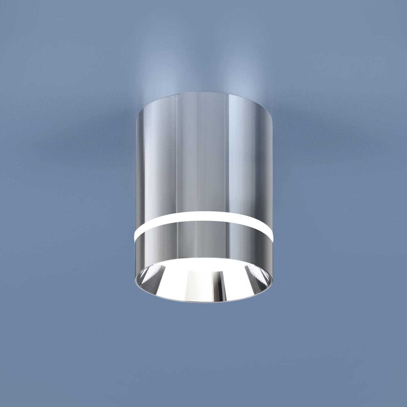 DLR021 9W 4200K / Светильник светодиодный стационарный хром потолочный светильник накладной argenta 4848