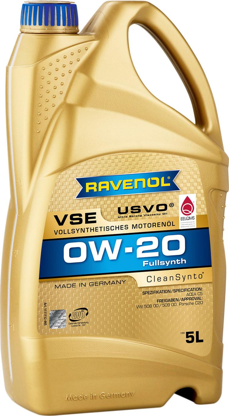 Моторное масло RAVENOL VSE SAE 0W-20 (5л)