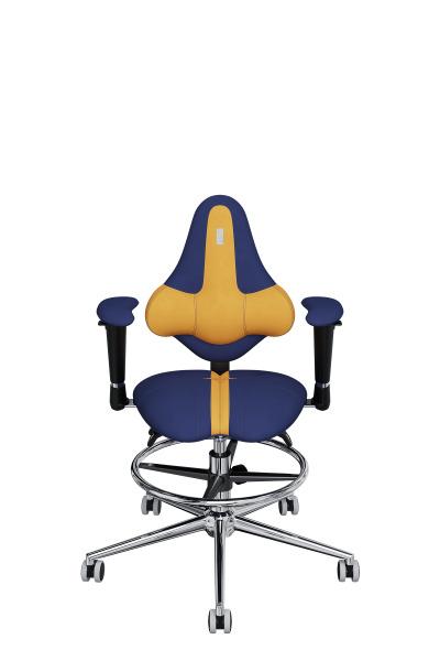 Детское компьютерное кресло KULIK SYSTEM KIDS Желтый + Синий