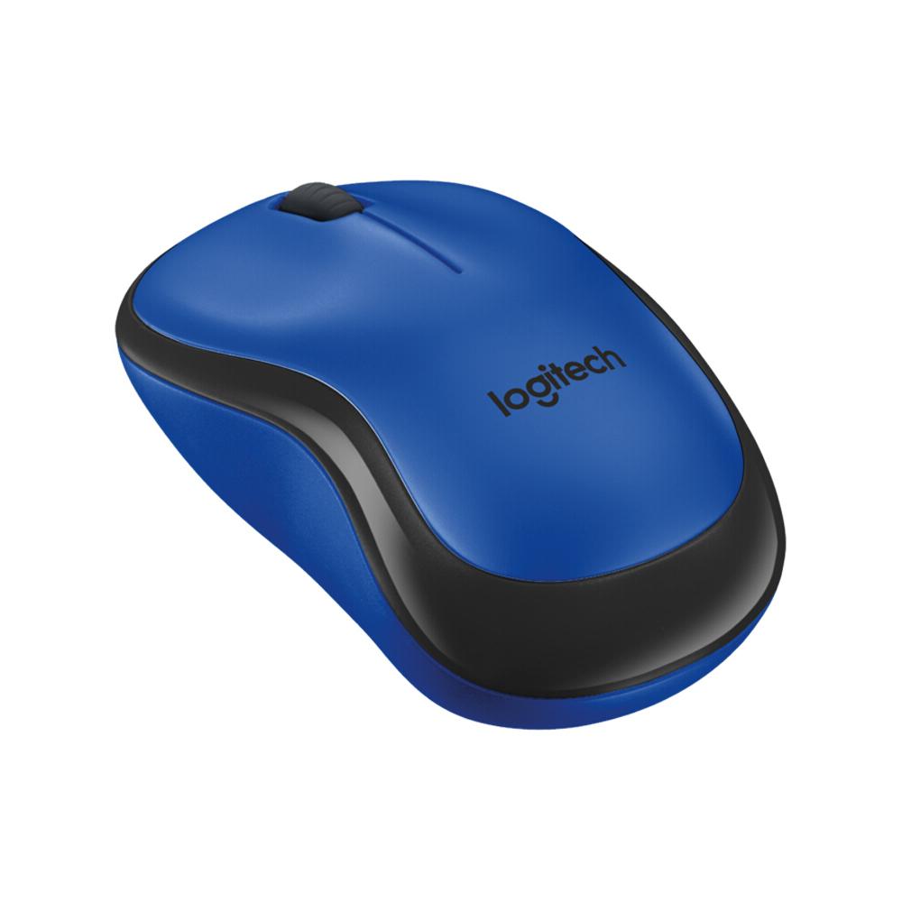 Logitech M220 Беспроводная мышь эргономичная бесшумная с приемником 2.4G Blue