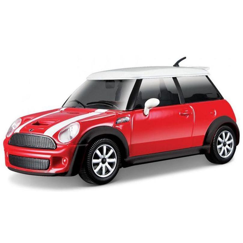 Bburago Машинка металлическая 1:24 Mini Cooper S, красный, 18-22124