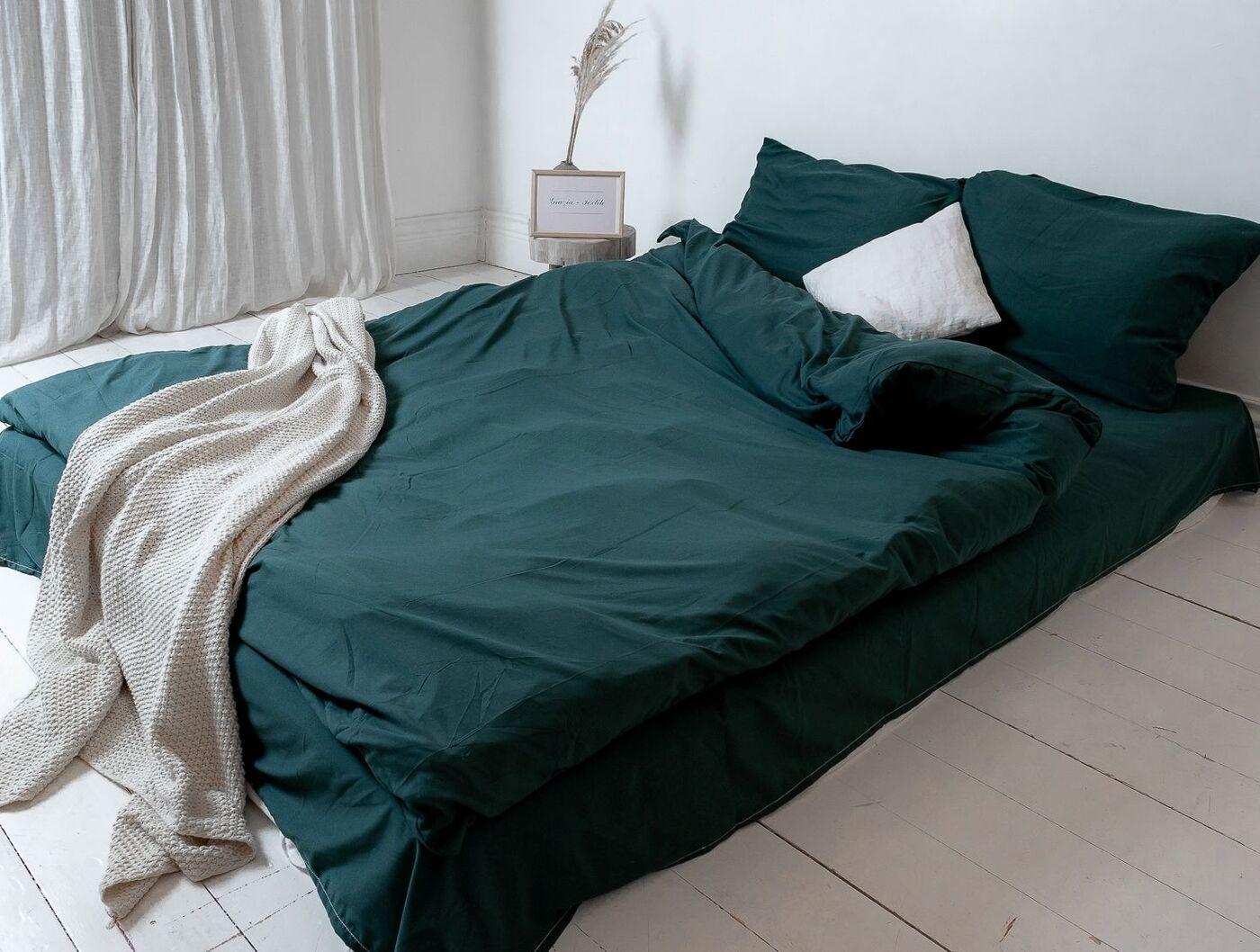 Комплект постельного белья Grazia Textile Сатин однотонный N001-N008 Евро, Сатин, наволочки 70x70