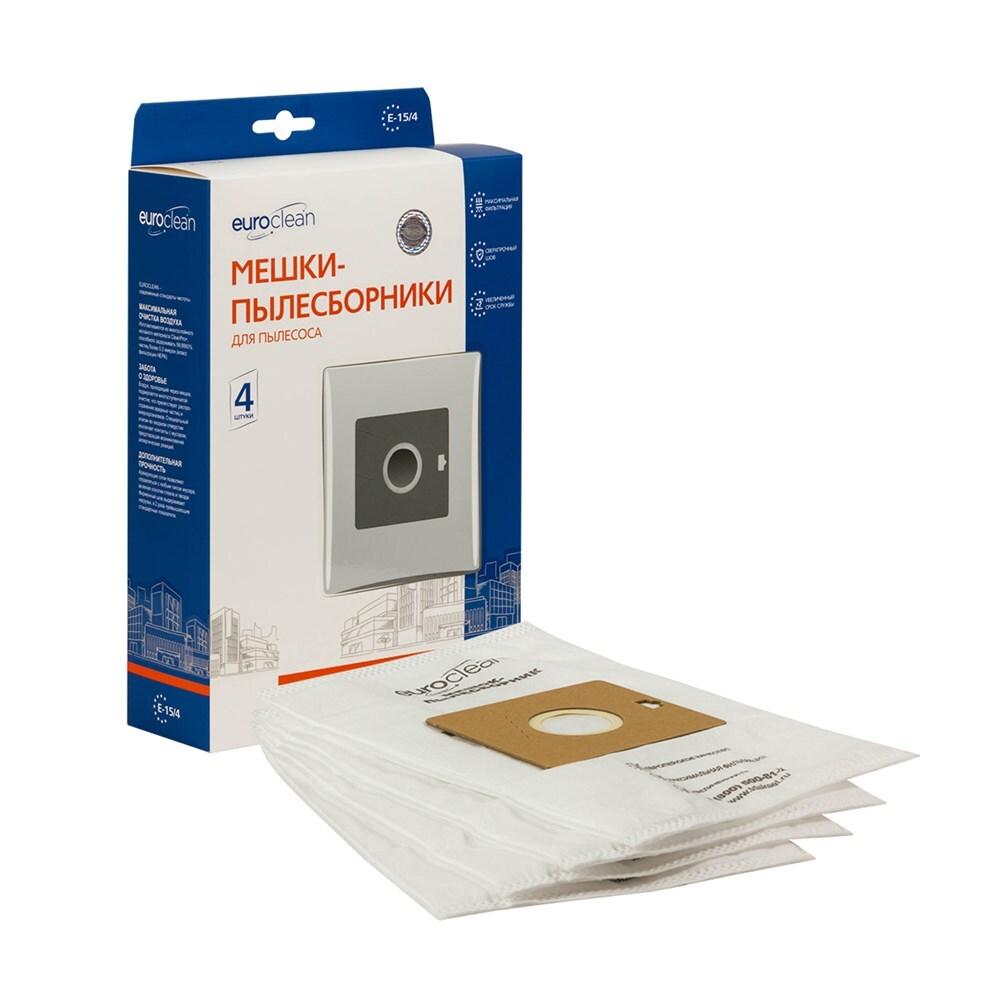 Мешки-пылесборники Euroclean синтетические 4 шт для пылесоса DAEWOO RC-2500