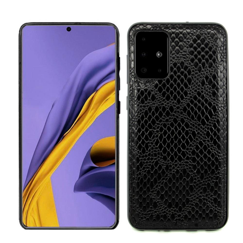 """Cиликоновый чехол """"Fortuna''-1 (эко-кожа + силикон) для Samsung Galaxy A71, черный"""
