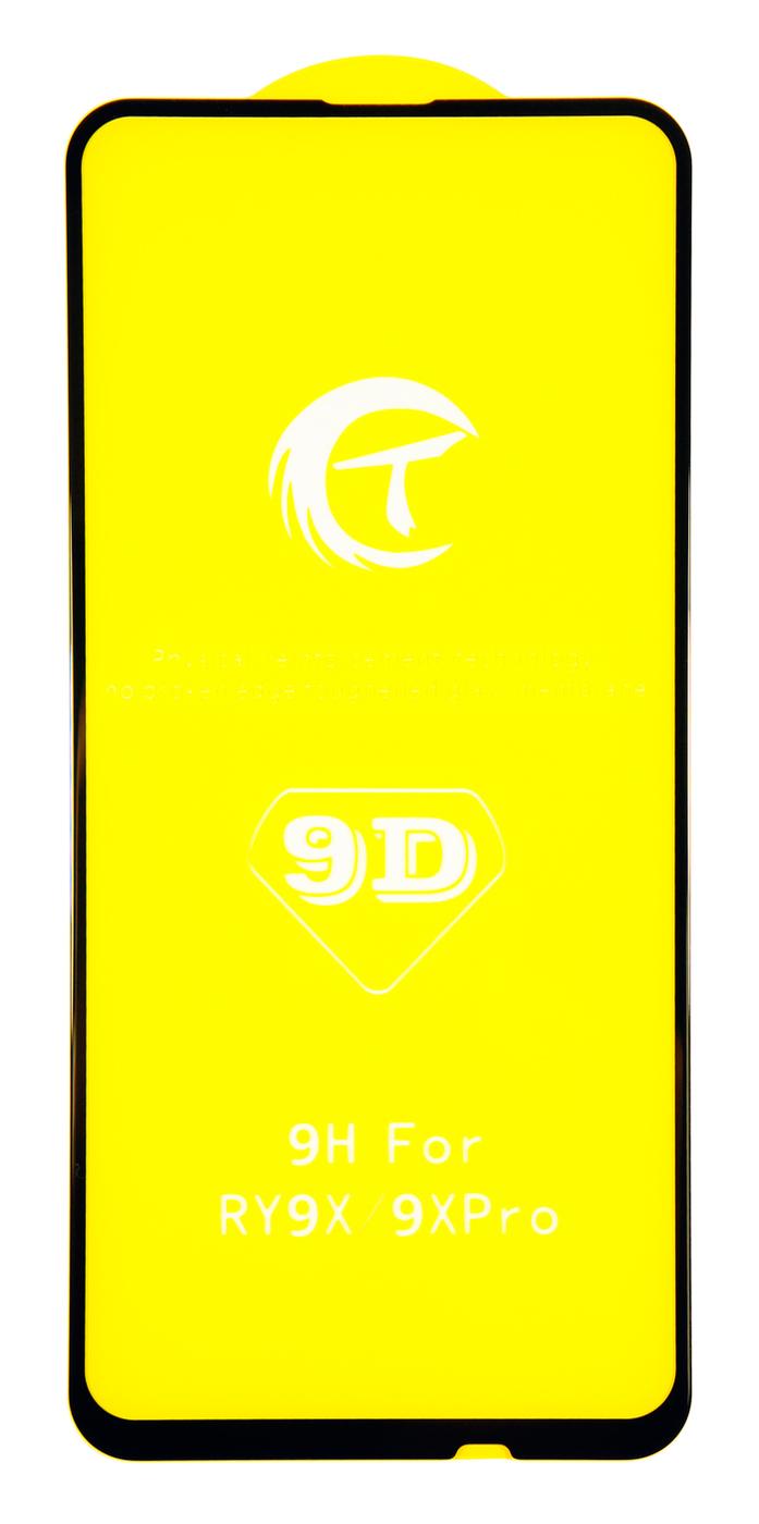 Защитное стекло Премиум для Huawei Honor 9X (полная проклейка, черная рамка)
