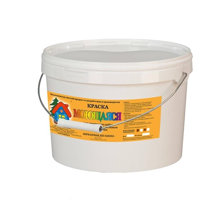 Краска Bona Farbo Сурик Быстросохнущая, Акрилатная, Матовое покрытие, 9 л, 10 кг, коричнево-красный
