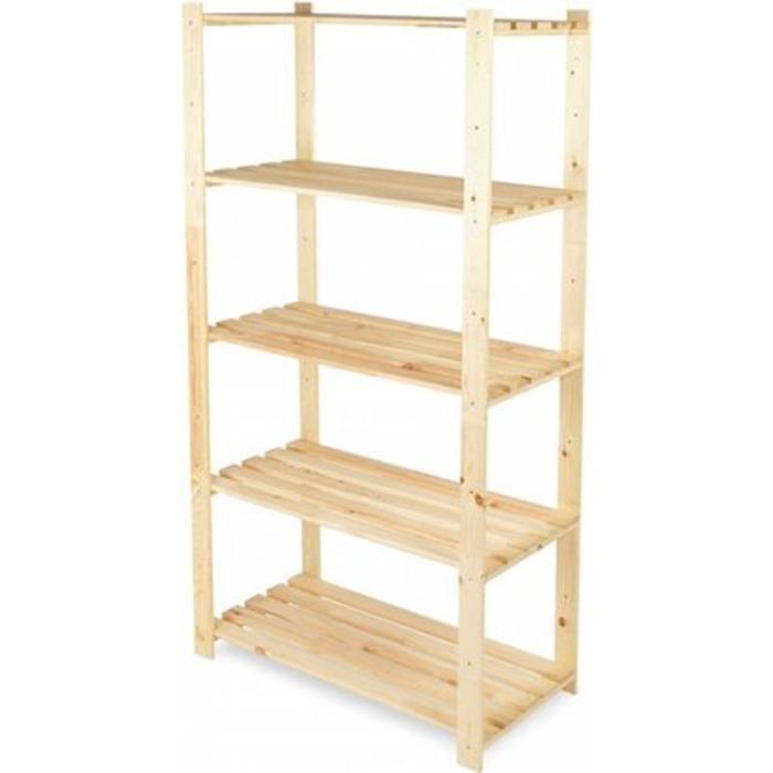 Стеллаж универсальный деревянный 170х64х29 см натуральный, 64х29х170 см, SKYLINE DESIGN