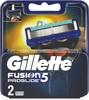 Сменные кассеты лезвия Gillette Fusion5 ProGlide Насадки Джилет с 5 лезвиями и точным триммером для труднодоступных мест 2 шт - изображение