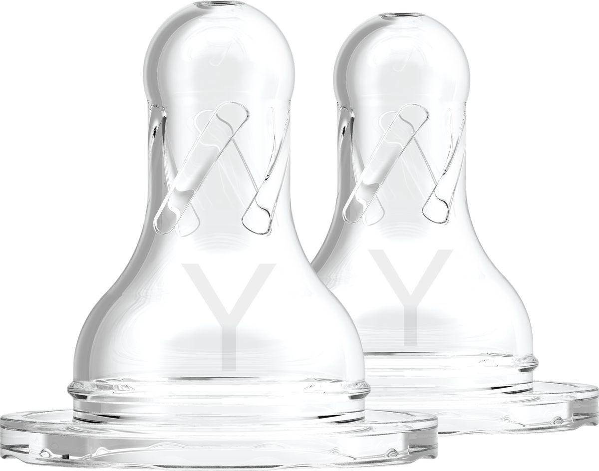 Соска для бутылочек Dr. Brown's, с Y-разрезом, с узким горлышком, для густых жидкостей, соков с мякотью, #1