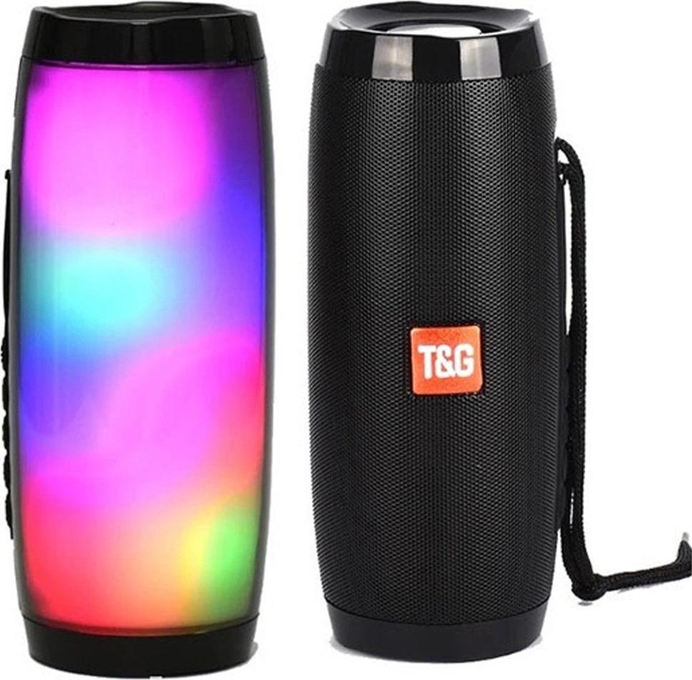 Портативная Bluetooth колонка TG-157, чёрная с подсветкой #1