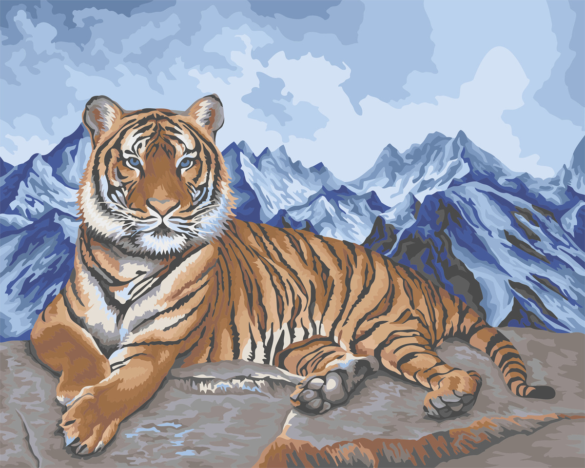 Картина по номерам на холсте 40x50. Амурский тигр — купить ...