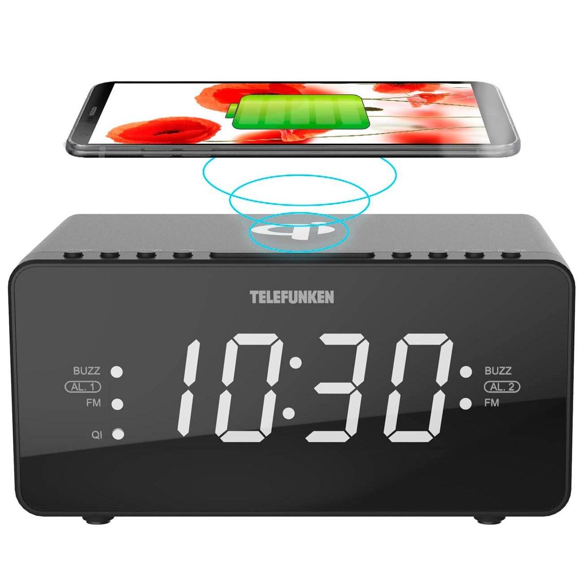 Telefunken Радио-часы TF-1594U Black #1