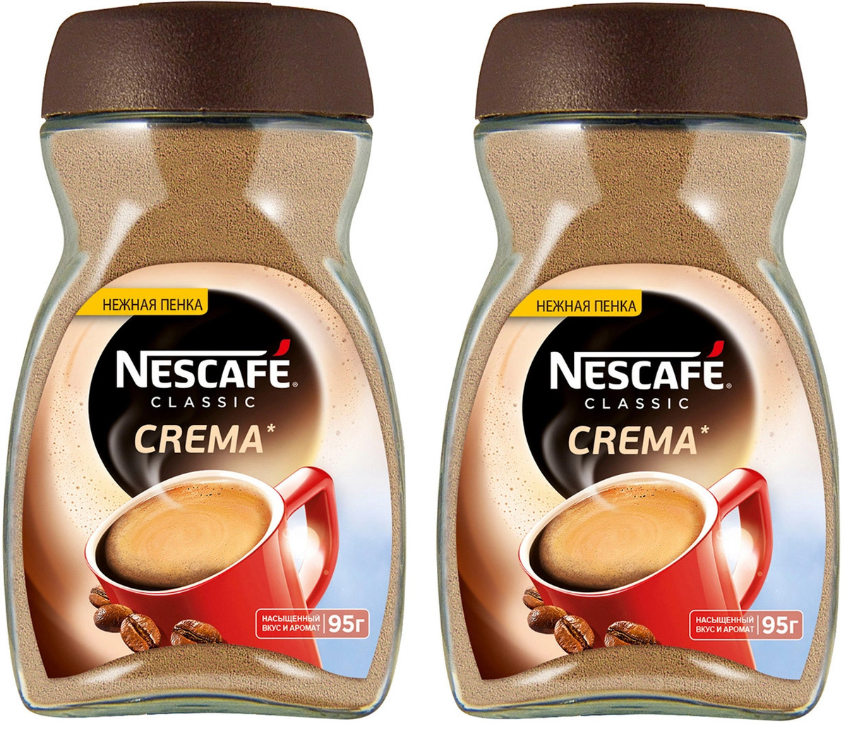 Nescafe Classic Crema кофе растворимый, 95 г (Набор из 2 шт) #1