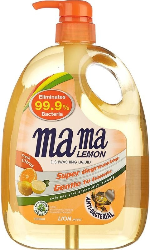 """Гель для мытья посуды и детских принадлежностей """"Mama Lemon"""", концентрат, антибактериальный, 1 л  #1"""