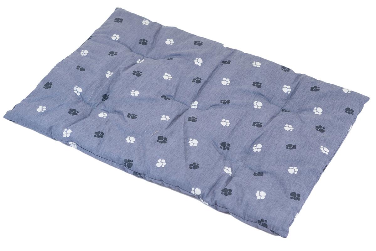 Подстилка прямоугольная стёганая PetTails, серая, 100*70*2,5см(хлопок, периотек)  #1
