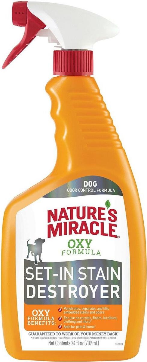 Уничтожитель пятен и запахов Окси-формула, для собак, Nature`s Miracle Oxy-Formula, 709 мл  #1