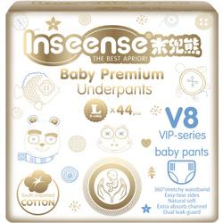INSEENSE  Подгузники-трусики PREMIUM V8 L (9-14кг) 44шт. Подгузники трусики