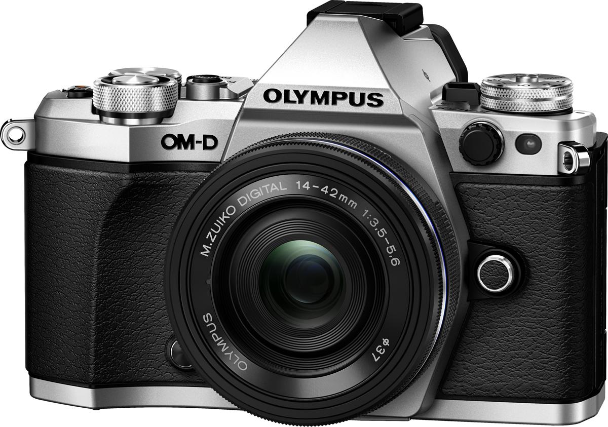 Беззеркальный фотоаппарат Olympus OM-D E-M5 II с объективом EZ-M1442EZ, серебристый