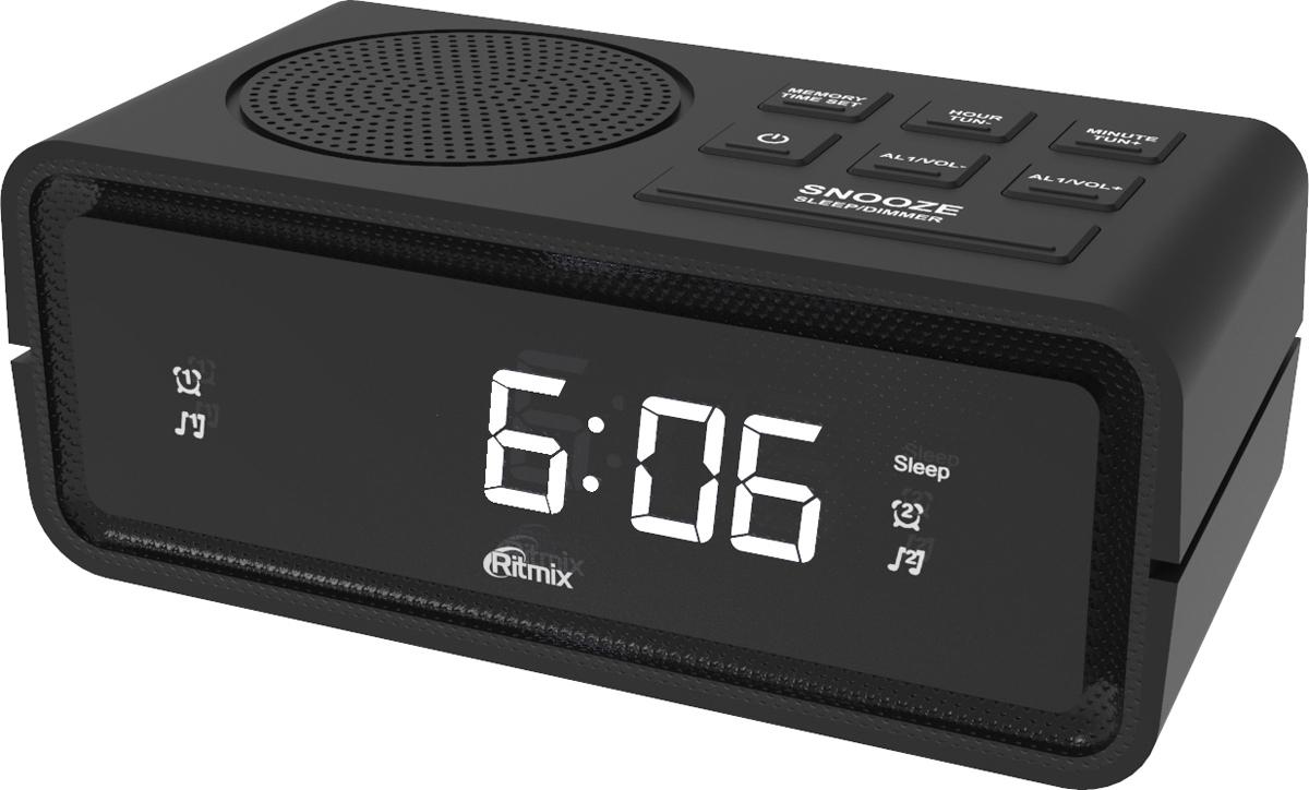 лучшая цена Радио-будильник Ritmix RRC-606, черный
