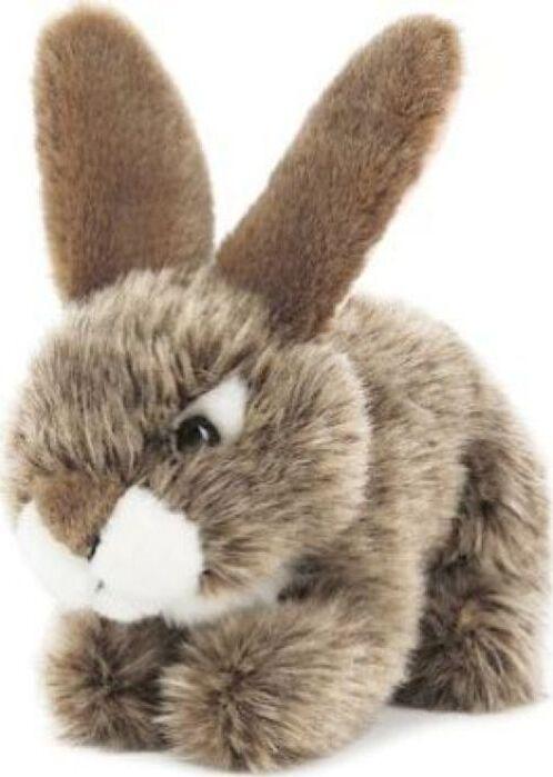 Мягкая игрушка Teddykompaniet Заяц, серый, 19 см