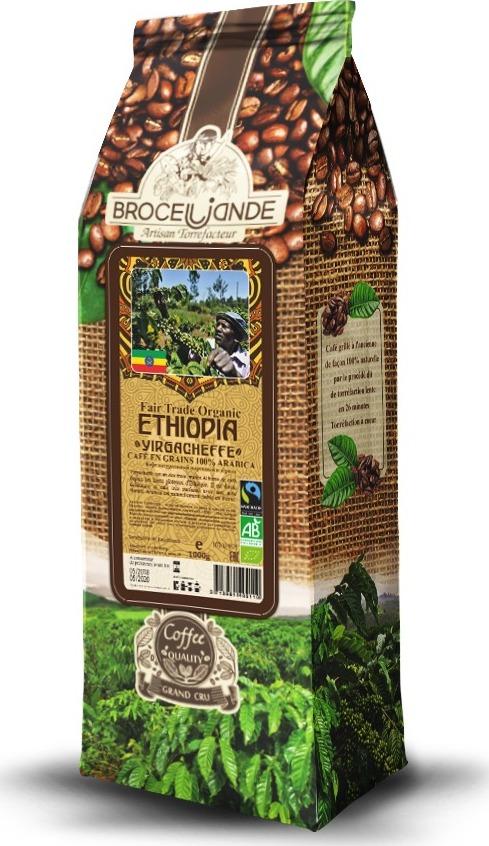 Кофе в зернах Broceliande Ethiopia Yirgacheffe 1кг