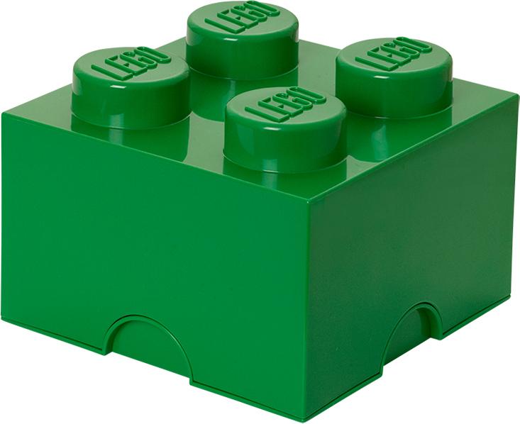 Ящик для хранения 4 LEGO зеленый бокс под мелкие запчасти peng workers