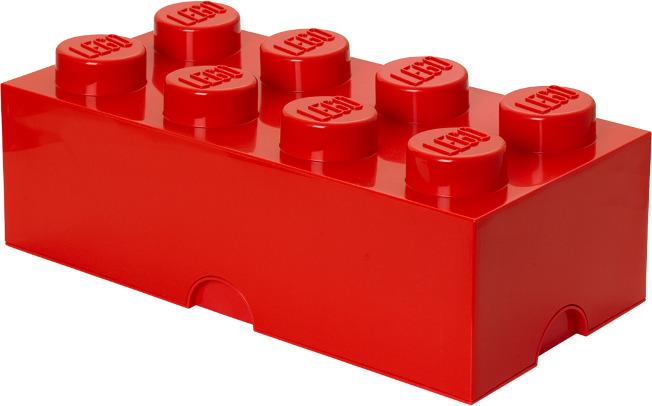 Ящик для хранения 8 LEGO красный