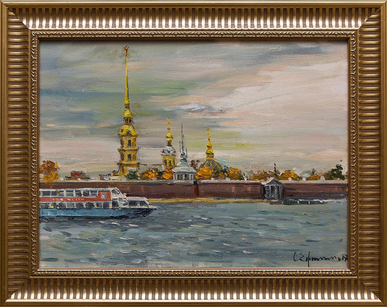 Картина маслом Вид на Петропавловскую крепость Ефименко картина маслом вид на петропавловскую крепость ефименко