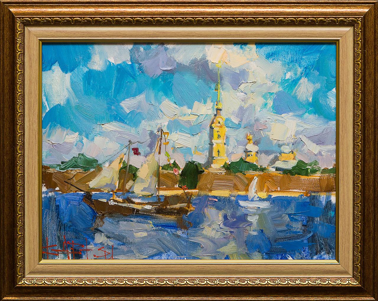 Картина маслом Петропавловка Сухоплюев картина маслом петропавловка клеверов
