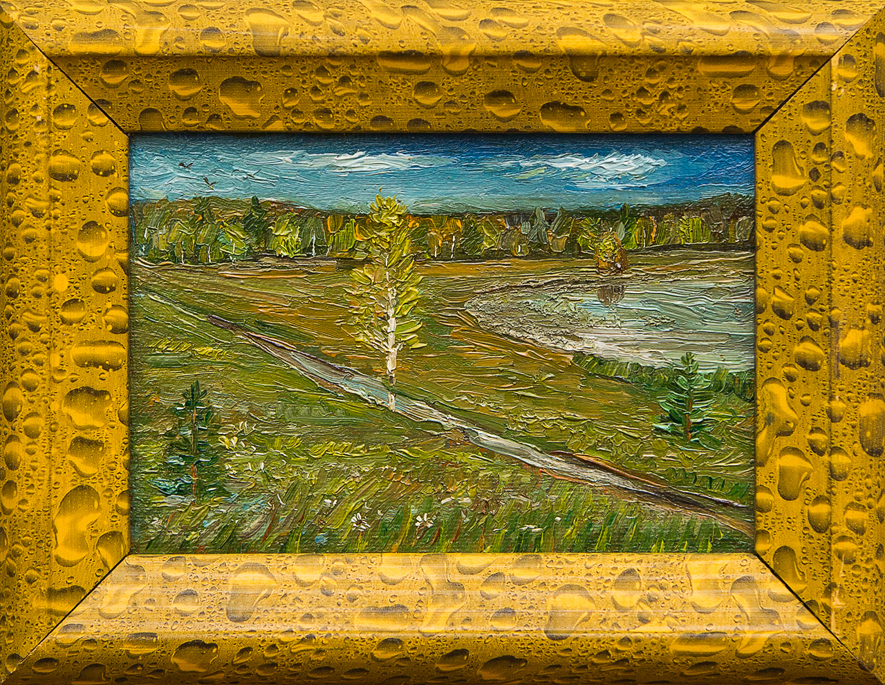 Картина маслом После дождя Мифтахов картина маслом подсолнухи мифтахов
