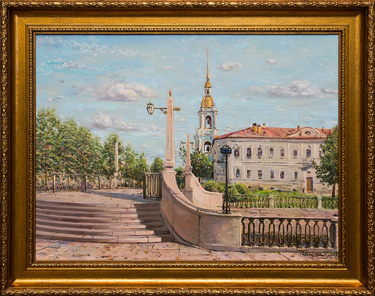 Картина маслом Санкт-Петербург Шафиев картина маслом санкт петербург вид с дворцового моста ильин