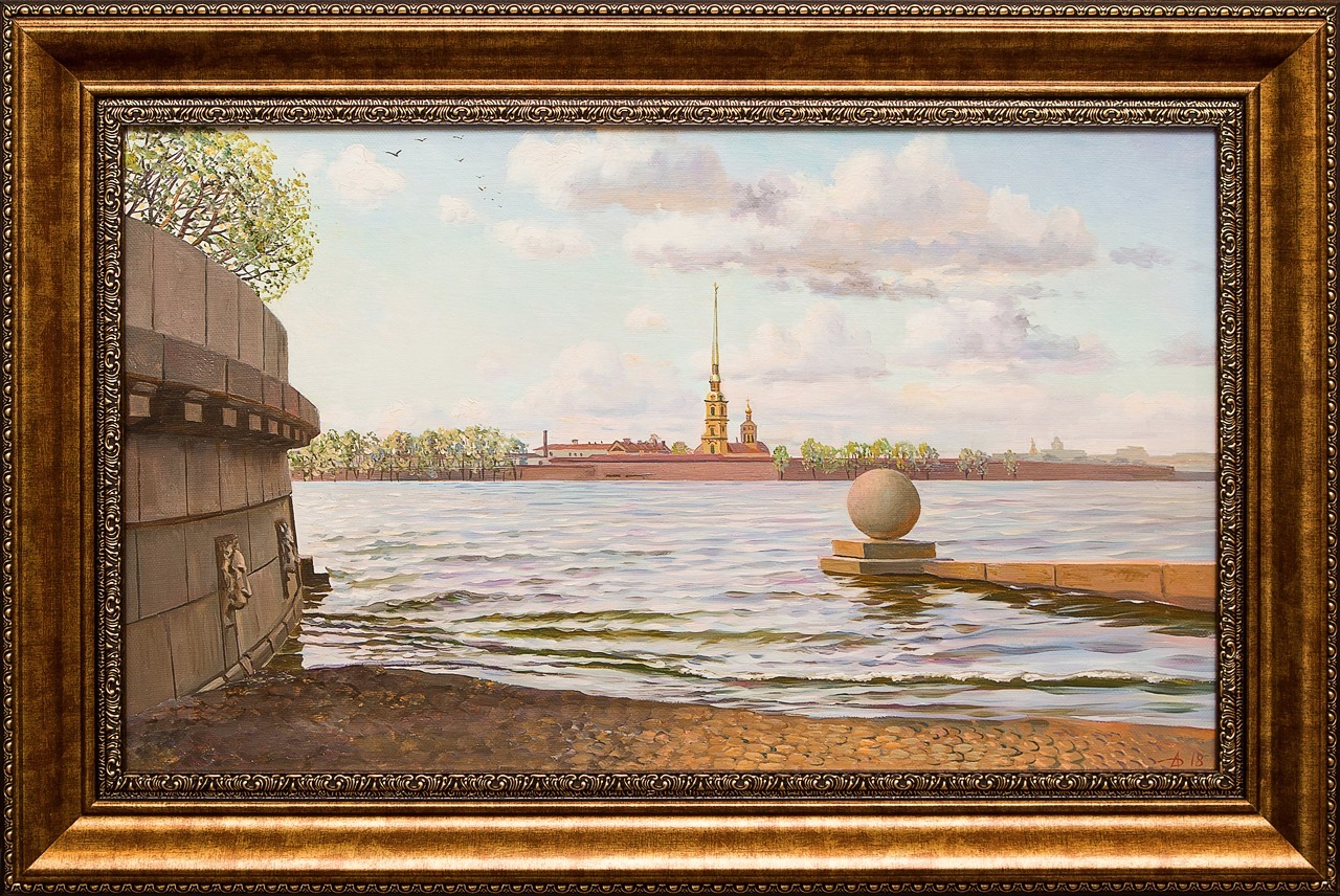 Картина маслом Петропавловка Дельцов картина маслом петропавловка клеверов