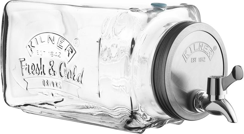 Диспенсер для холодных напитков Kilner 3л в подарочной упаковке