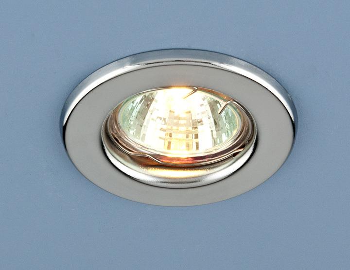 Встраиваемый светильник Elektrostandard Точечный 9210 MR16 CH, G5.3 эра c0043804 st3 ch mr16 12v 220v 50w хром