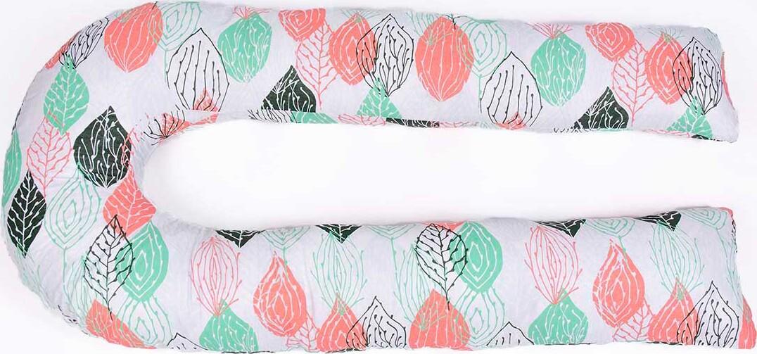 Хлопковая наволочка на подушку для беременных MommyPillow U 360 см Хлопковые листья