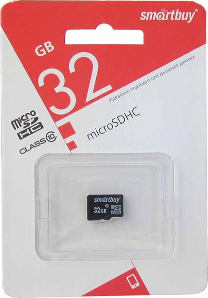 Карта памяти SmartBuy microSDHC Class 10 SB32GBSDCL10-00LE 32GB, цвет: черный стоимость