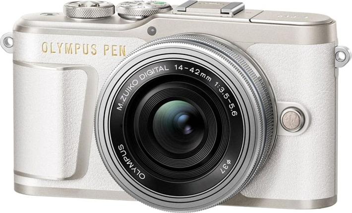 Беззеркальный фотоаппарат Olympus E-PL9 Pancake Zoom Kit, белый