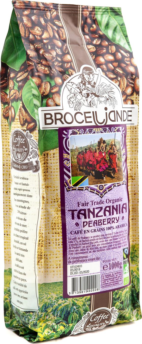 Кофе в зернах Broceliande Tanzania, 1000 гр.