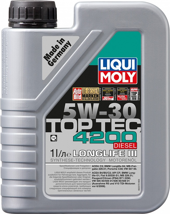 LIQUI MOLY Масло моторное Top Tec 4200 Diesel 5W-30  1L