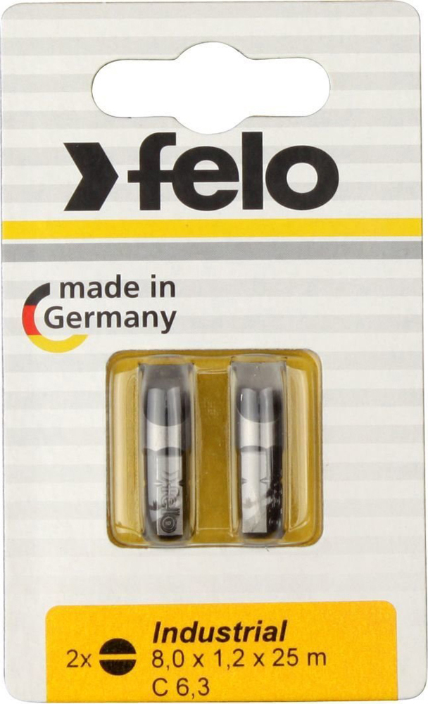 Бита для инструмента Felo Industrial, плоская шлицевая 8х1,2х25 мм, FEL-02080036, 2 шт
