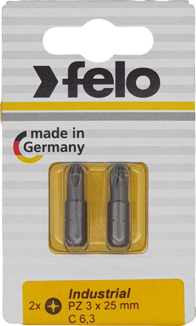 Бита для инструмента Felo Industrial, крестовая PZ 3х25 мм, FEL-02103036, 2 шт