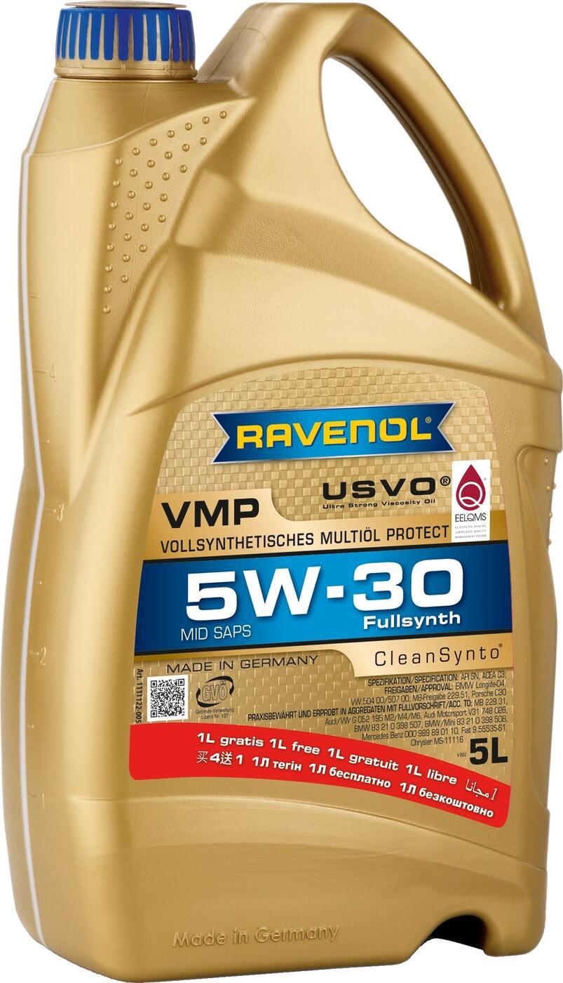 Моторное масло RAVENOL VMP SAE 5W-30 (4+1 л)
