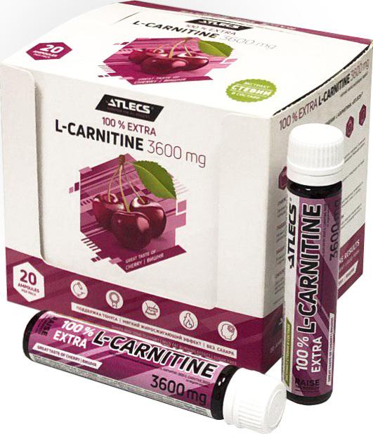 Карнитин L-Carnitine Atlecs 3600 mg, 20х25 мл, вишня