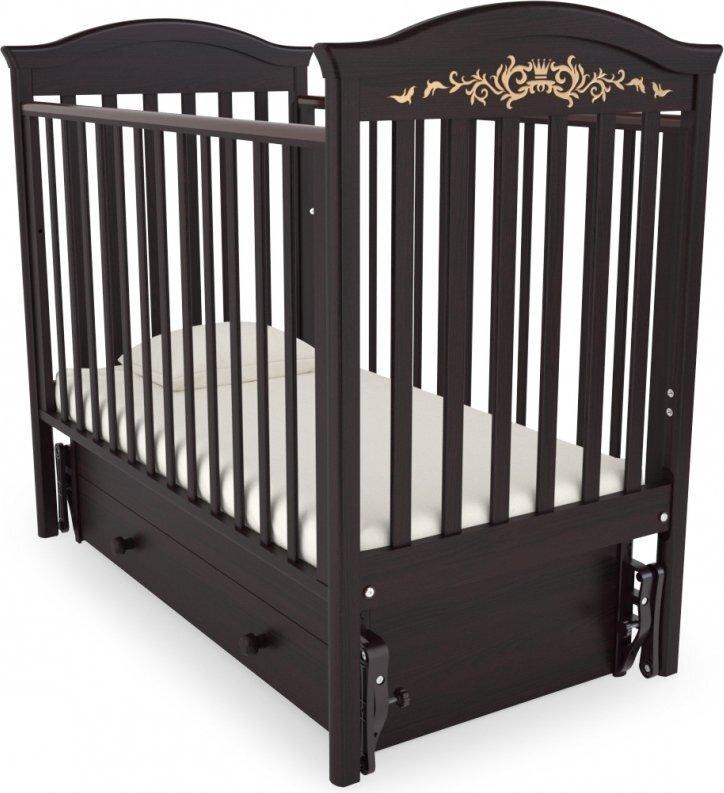 Кровать  детская Гандылян Даниэль Люкс маятник универсальный (махагон)
