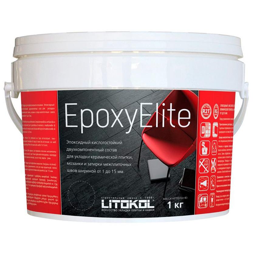 Эпоксидная затирка EpoxyElite (ЛИТОКОЛ ЭпоксиЭлит) E.12 (Табачный ), 1кг