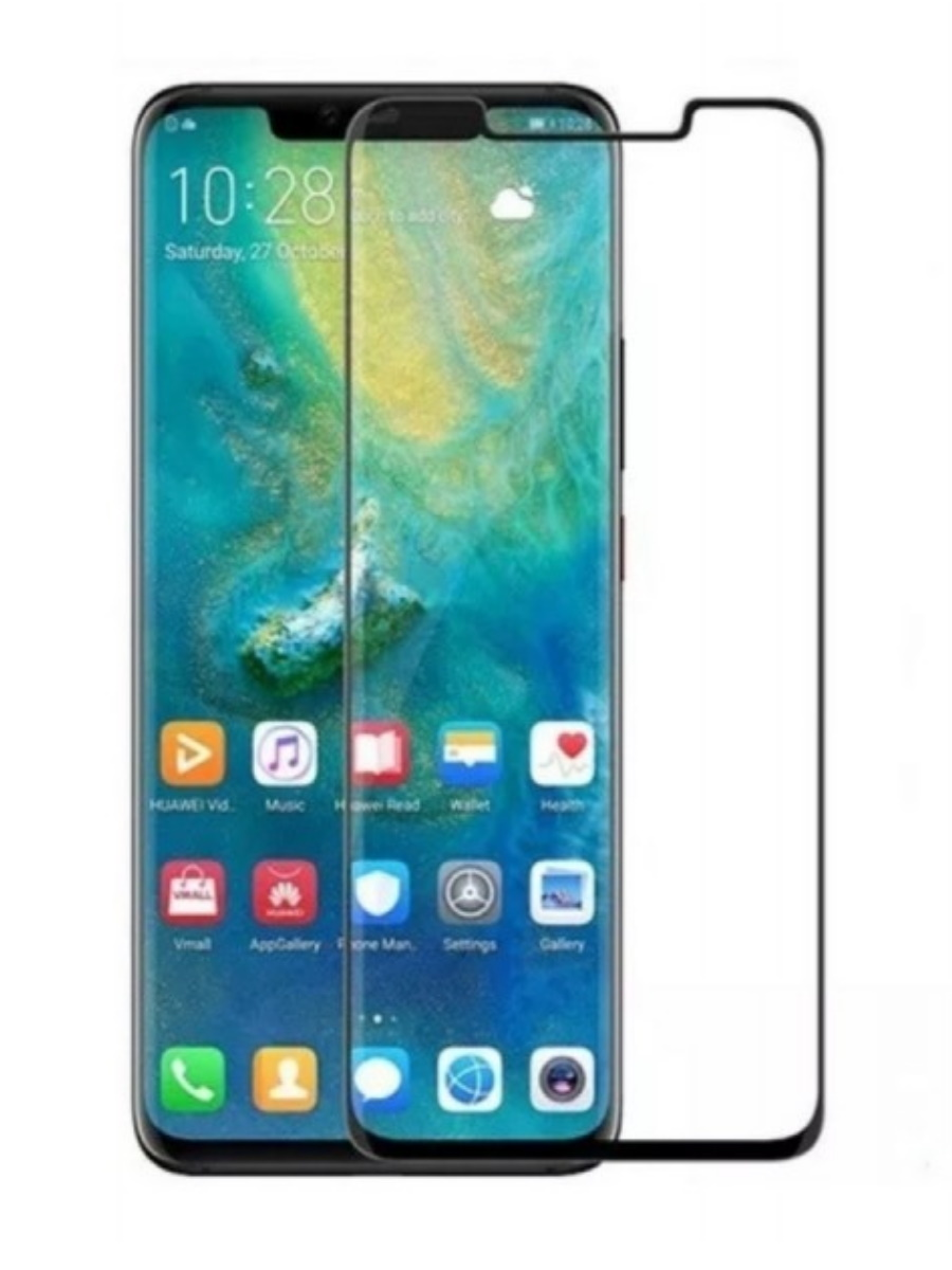 Защитное стекло Baseus 0.3mm Curved-screen Tempered Glass Screen Protector для Huawei Mate 20 Pro Black