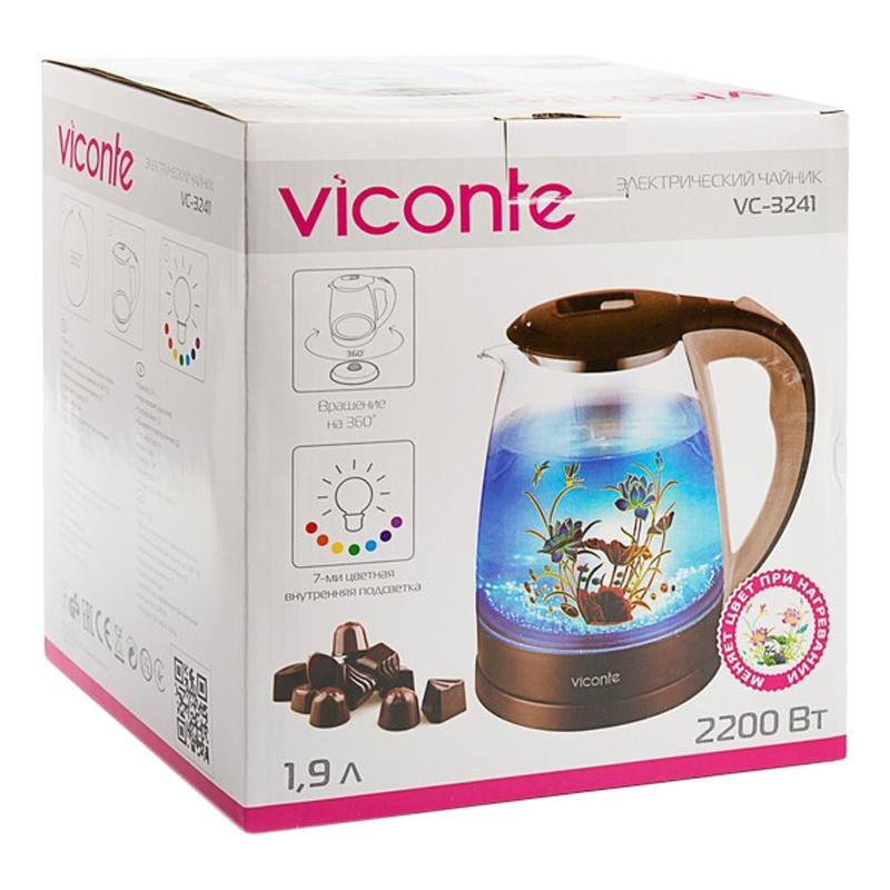 Электрический чайник Viconte VC-3241 стекло