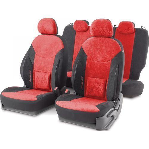 Чехлы Автопрофи COM-1505VF BK/RD COMFORT X, велюр,орт.поддержка,15 предм,карман,6 молний,AIRBAG,чёрн./красный