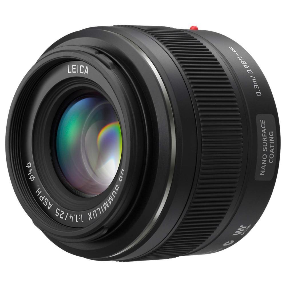 PANASONIC LUMIX G Leica DG SUMMILUX Lens, 25mm, F1.4 ASPH, Mirrorless Micro Four Thirds, H-X025 (US